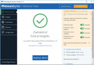 Eliminar virus ordenador con malwarebytes