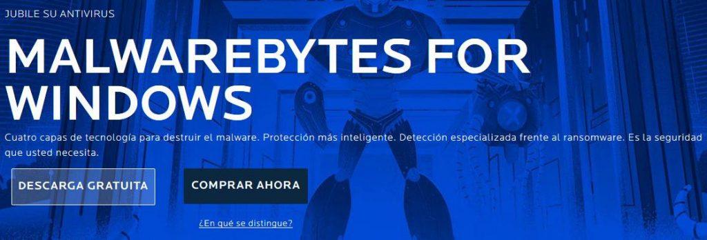 Desinfectar ordenador con malwarebytes