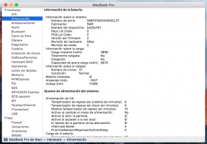 como saber ciclos de carga macbook
