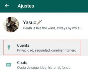 activar verificacion en dos pasos whatsapp