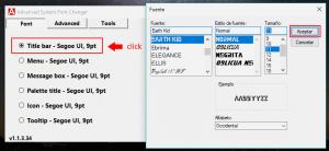 cambiar fuente por defect windows 10
