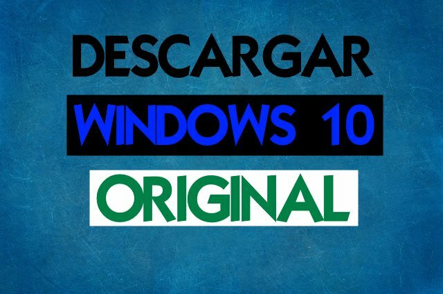descargar windows 10 original en español