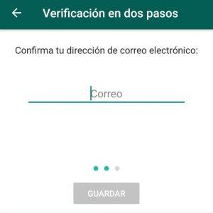 activar seguridad en dos pasos watsapp