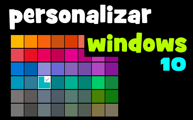 personalizar colores en windows 10