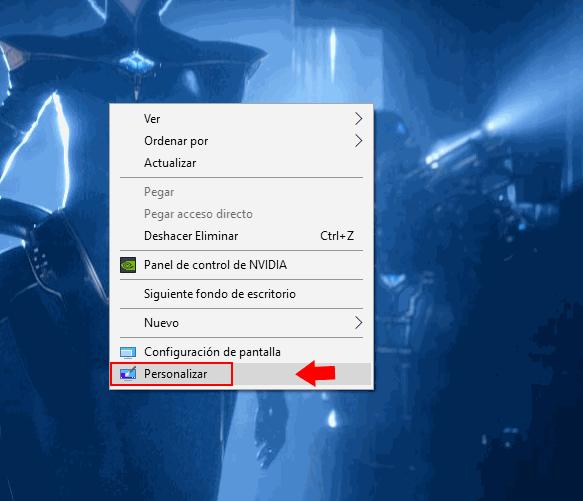 personalizar colores windows 10