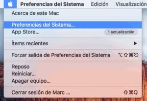 Preferencias de l sistema mac