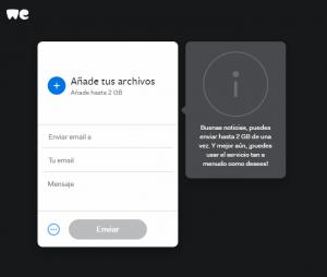 Compartir archivos grandes por correo