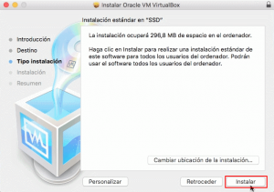 virtual box para macbook