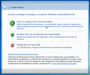 instalacion de windows 7 limpia