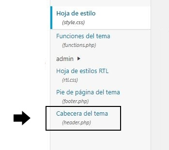 pegar codigo analitics wordpress
