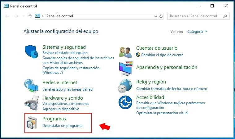 desinstalar programas windows