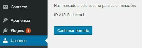 como eliminar un usuario en wordpress español 2019