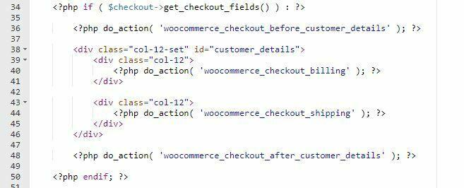 estructura html formulario woocommerce