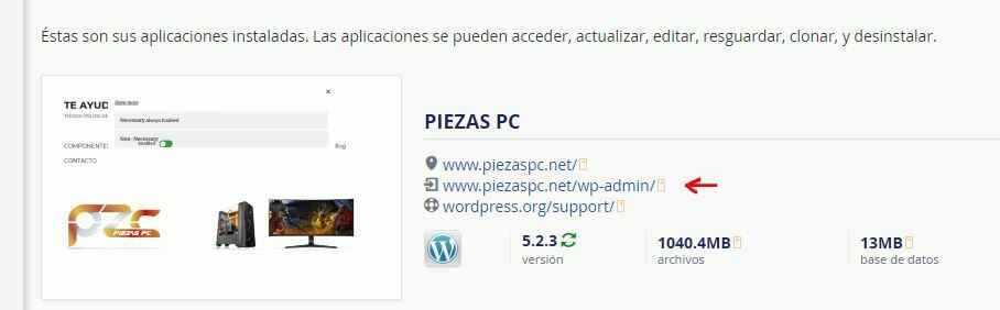 como acceder a wordpress